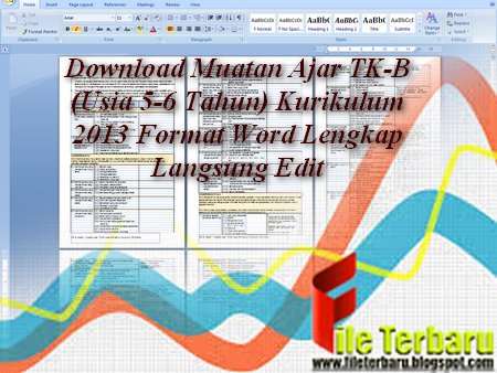 Download Muatan Ajar TK-B (Usia 5-6 Tahun) Kurikulum 2013 Format Word Lengkap Langsung Edit