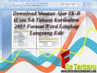 Download Muatan Ajar TK-B (Usia 5-6 Tahun) Format Word Lengkap Langsung Edit