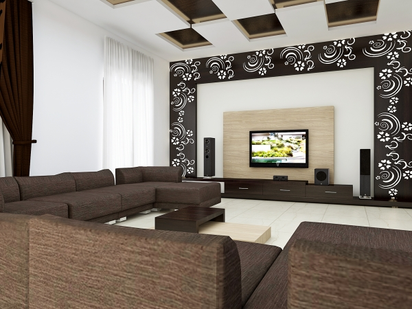 15 Contemporary TV Units With CNC Decorating Ideas