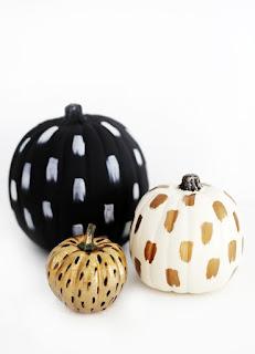 20 Idee Per Decorare Le Zucche Di Halloween Fai-da-te: pennellate