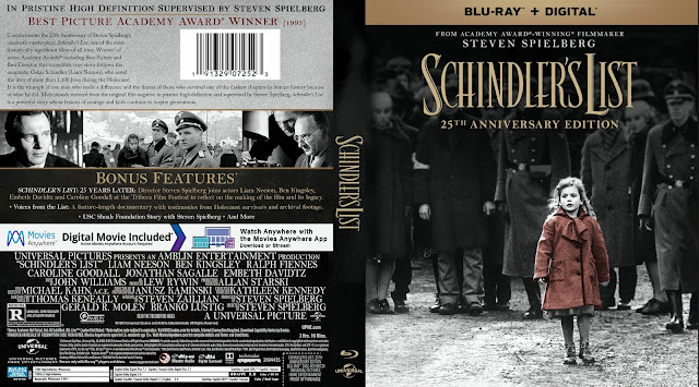 Schindlers List - 25th Anniversary Edition Bluray Cover