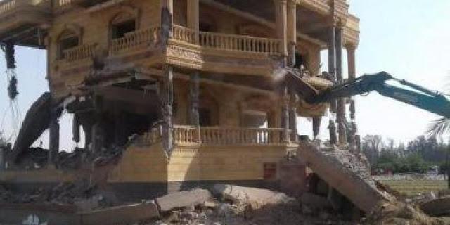 مدير أمن الشرقية يأمر بإزالة قصر أكبر تاجر مخدرات بالمحافظة على مساحة 10 فدان