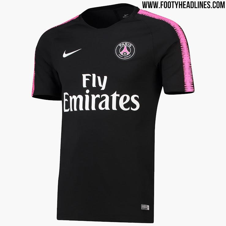 0866fcbab Black / Hyper Pink' Nike PSG 18-19 Training Kit Released - Footy ...