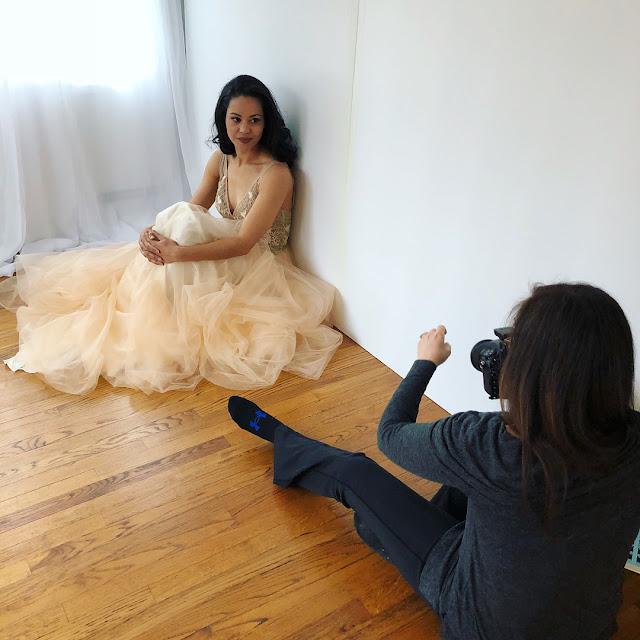 Plunging V Neck Beige Evening Dress Prom Dress