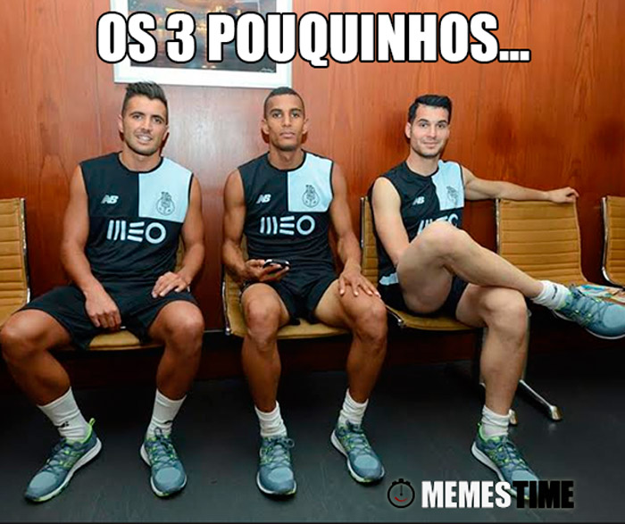 Meme com 3 rostos do novo FCPorto – Os 3 Pouquinhos…