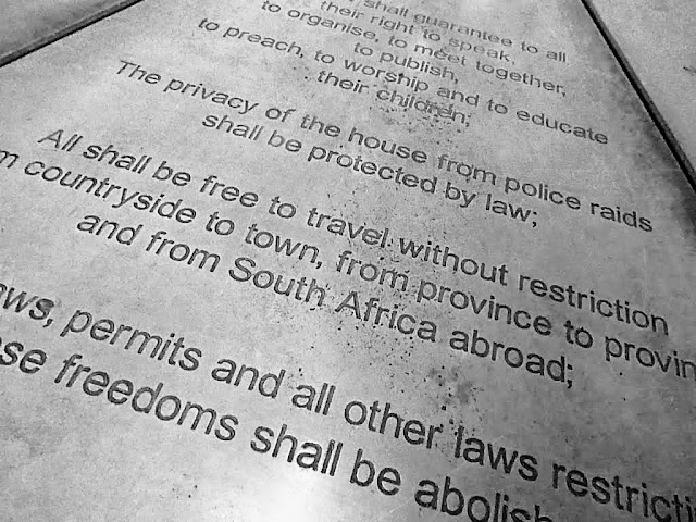 Language of the Freedom Charter in South Africa's Soweto