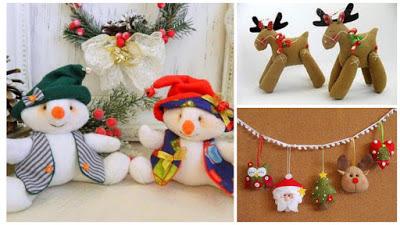 Muñecos-navideños-fieltro