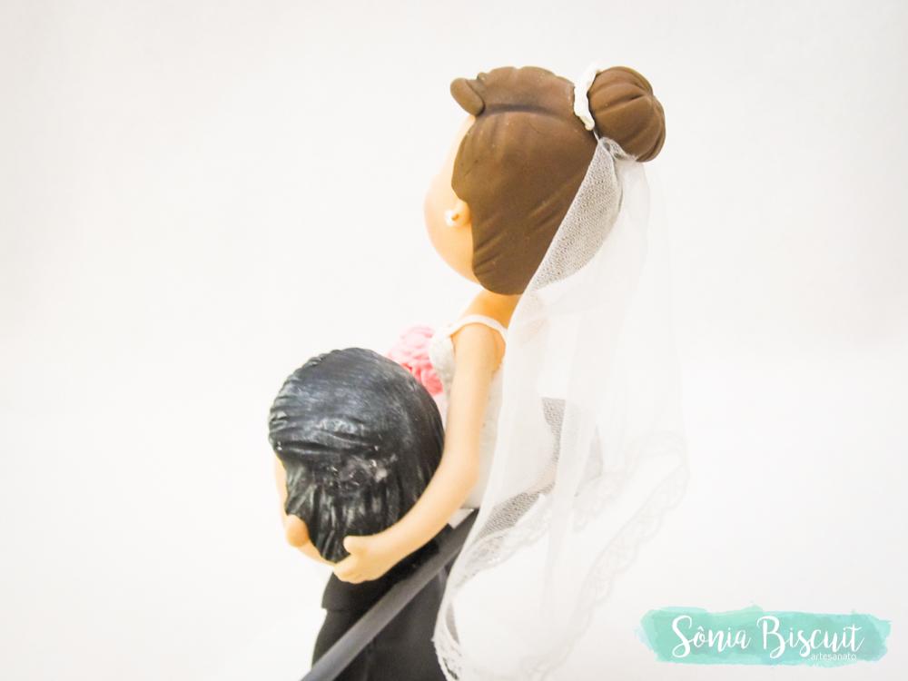 Noivinhos, Noivo, Topo de Bolo, Biscuit, Casamento, Porcelana Fria