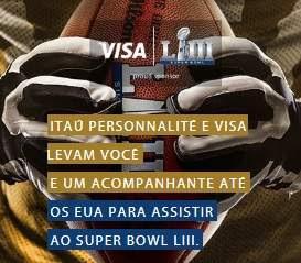 Cadastrar Promoção Visa e Itaú 2018 Super Bowl Viagens