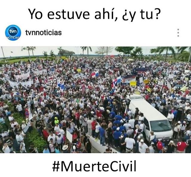 #MuerteCivil  Yo estuve ahí, ¿y tú?