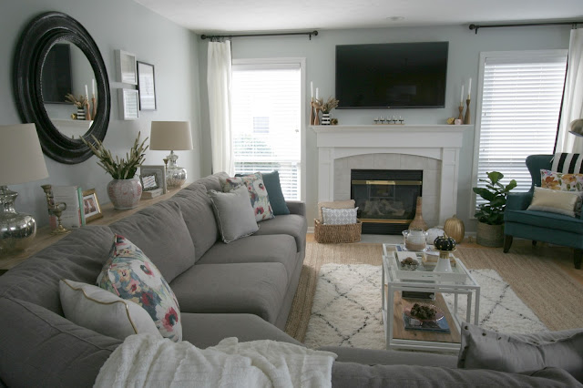 Fall Home Tour with At Home using blush gold and black and warm wood tones