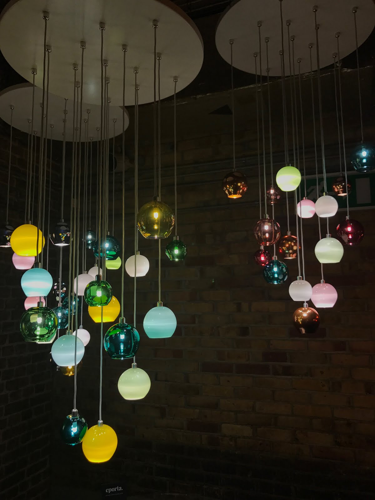 Clerkenwell Design Week, Curiousa & Curiousa, new product launch, hand blown glass uk, colourful lighting