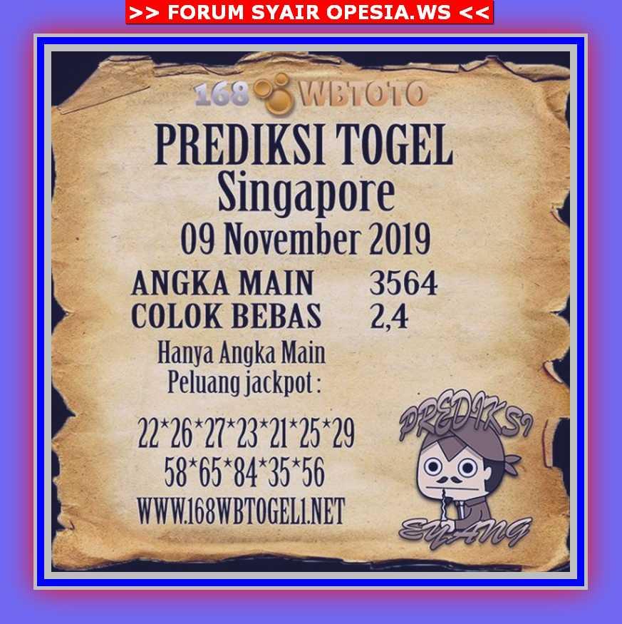 Kode syair Singapore Sabtu 9 November 2019 65