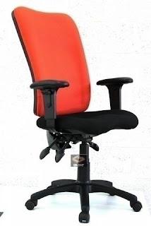 כסא למחשב בצבע אדום שחור ארגונומי