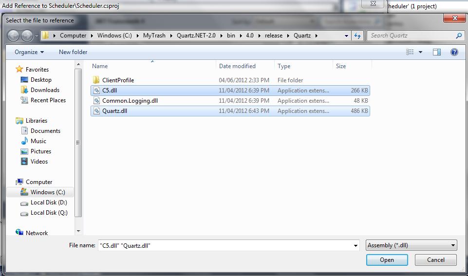 ASP NET development recipes (c#): Quick sample to schedule