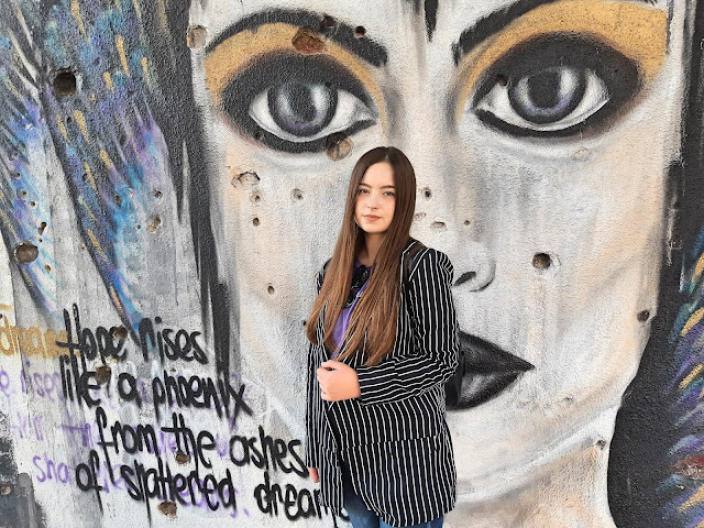 sako na prugice outfit jesen moda 2018 fashion blogger livinglikev living like v girlmerry review recenzija