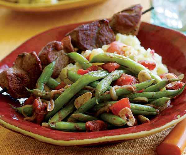 Spiced Green Beans Braised with Tomato & Onions