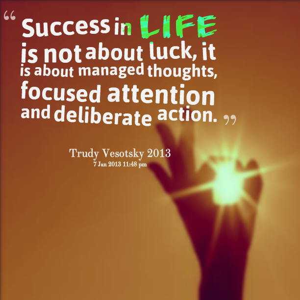 Quotes About Success: Quotes About Success And Luck. QuotesGram