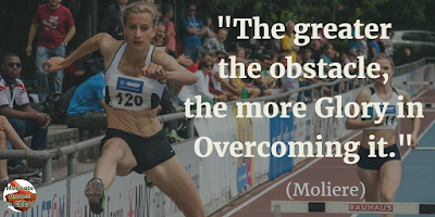 "71 Quotes About Life Being Hard But Getting Through It: ""The greater the obstacle, the more glory in overcoming it."" - Moliere"