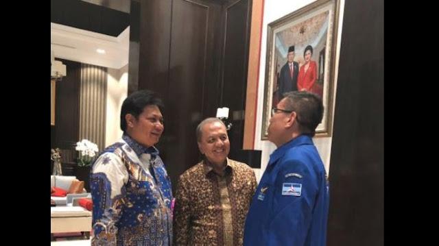 Ketum Golkar Airlangga Hartarto Datangi Partai Demokrat di Kediaman SBY