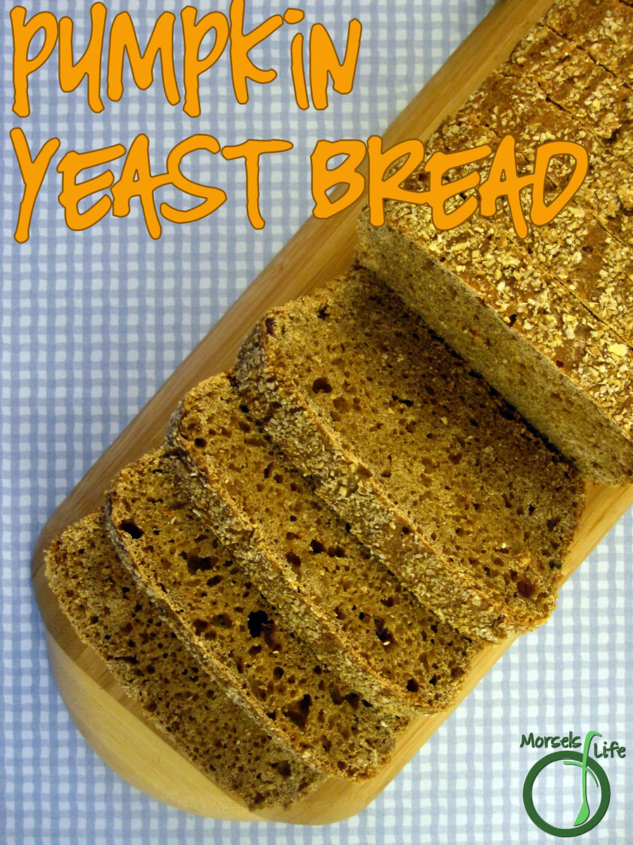 Morsels of Life - Pumpkin Yeast Bread - A simple and flavorful pumpkin yeast bread made with roasted pumpkin puree.
