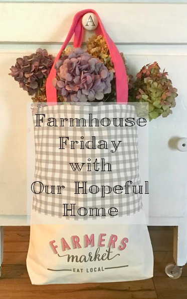 Farmers Market Bag Eat Local Filled With Dried Hydrangeas