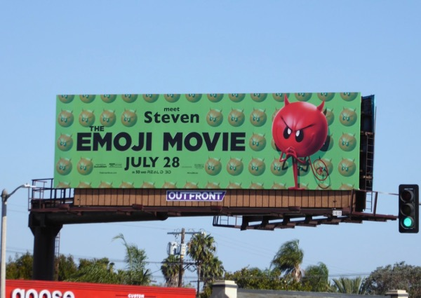 Emoji Movie Meet Steven billboard