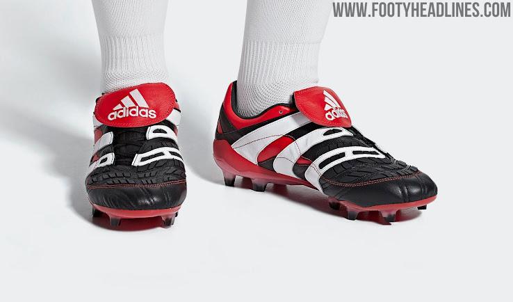 45afb3ff71f6 Black / White / Red Adidas Predator Accelerator 2018 Remake Boots ...