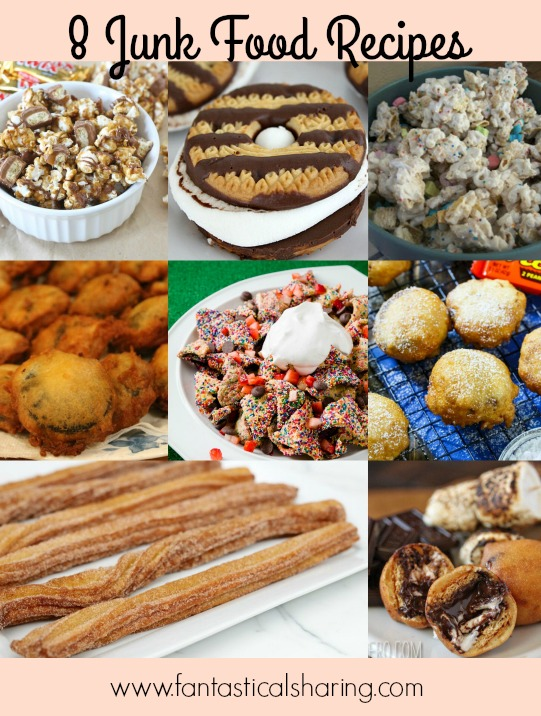 Happy National Junk Food Day! Celebrate with these 8 Junk Food Recipes #recipe #dessert #candy #junkfood