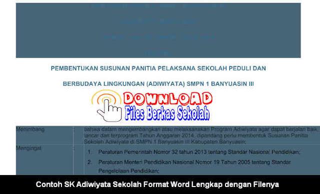 Download Surat Keputusan Adiwiyata Sekolah
