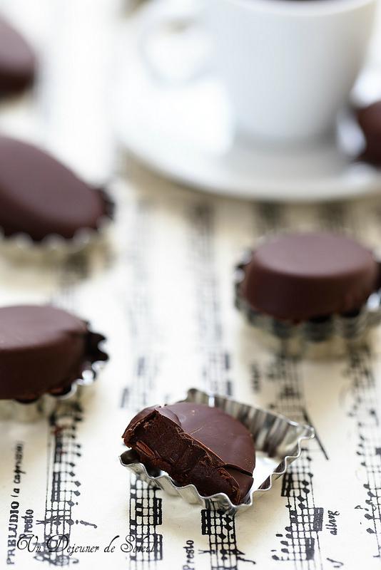 Chocolats maison ganache café