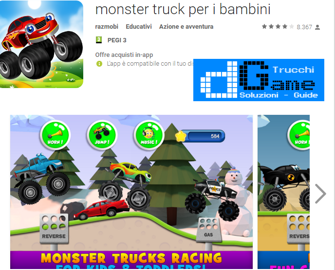 Trucchi Monster truck per i bambini Mod Apk Android v2.2