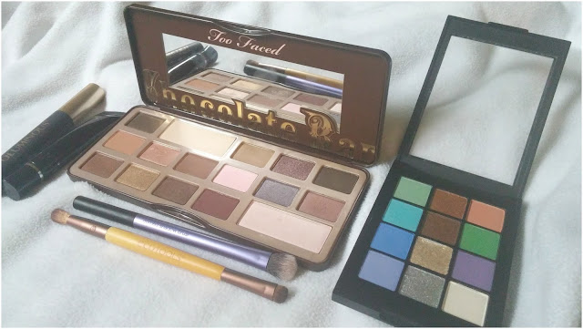 Too Faced Chocolate Bar, Sonia Kashuk Eyeshadow, EcoTools, Real Techniques