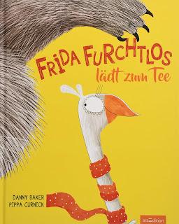 """Cover des Bilderbuches """"Frida Furchtlos lädt zum Tee"""" von Danny Baker"""