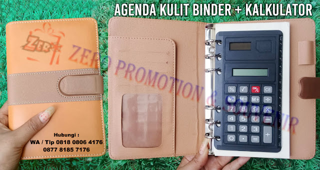 Barang promosi agenda Kulit Binder dengan kalkulator | Barang Promosi, Mug Promosi, Payung Promosi, Pulpen Promosi, Jam Promosi, Topi Promosi, Tali Nametag