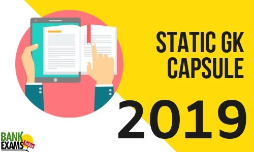 Static GK PDF Capsule 2019