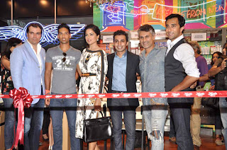 Siddarth Mallya and Sameera Reddy Inaugurates KIEHL's outlet