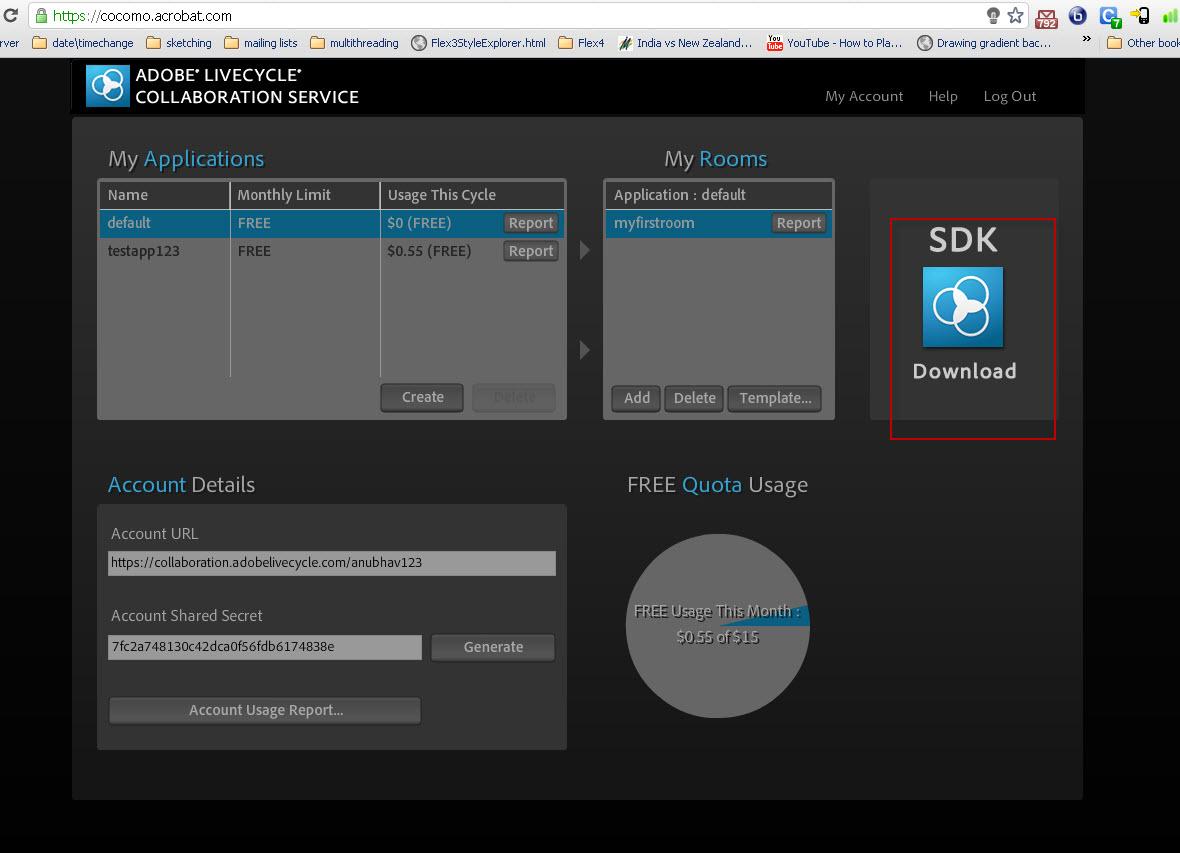 Flex-O-Maniac: Screen Sharing through Flex application