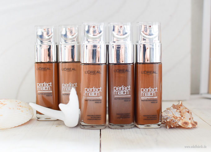 L'Oreal Perfect Match Foundation für dunkle Haut, Töne 8 bis 9