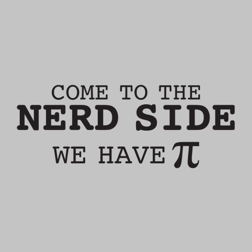 Funny Nerd Maths Joke Sign Pie Pi