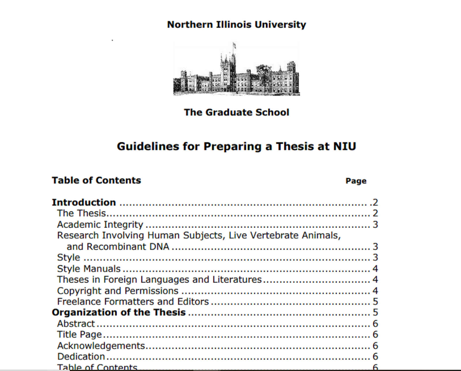 Niu thesis and dissertation
