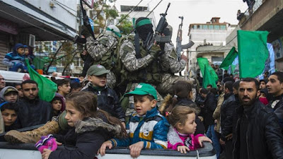 Hamas troops in Gaza City