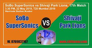 SS vs SPL MPL T20 Match Prediction Today Who Will Win T20 Mumbai 2019