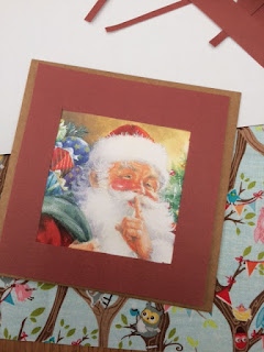 Frame placed over the Santa card