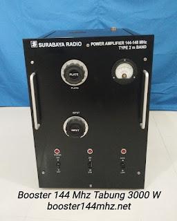 Booster 144 Mhz Tabung 3000 W Lengkap dengan Power Supply Tinggal Colok Listrik