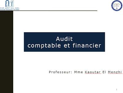 Audit comptable et financier PDF - Pr.Kaoutar El Menzhi.
