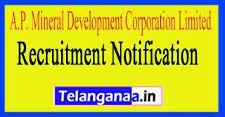 A.P. Mineral Development Corporation Limited APMDC Recruitment Notification 2017
