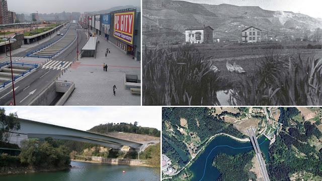 Imágenes del estado antiguo y actual de algunas zonas de Barakaldo