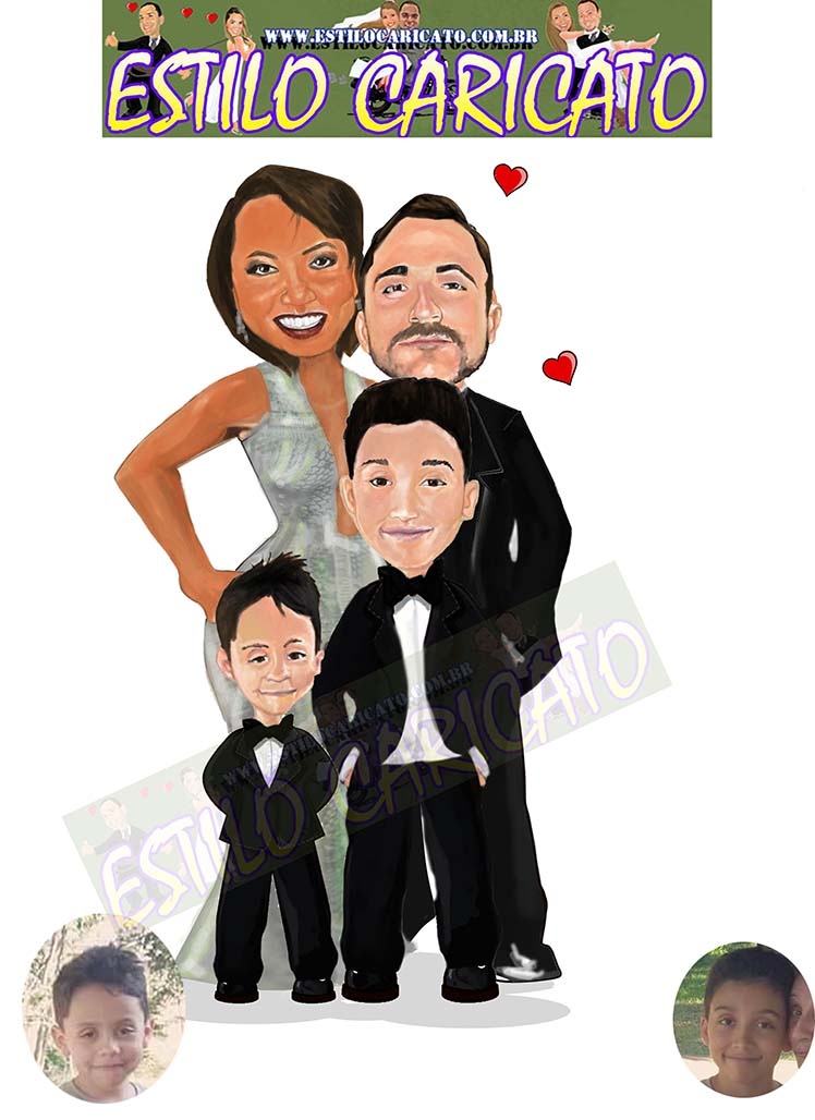 familia caricata caricatura