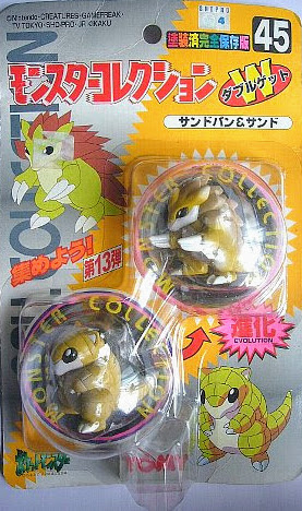 Sandslash Pokemon figure Tomy Monster Collection series